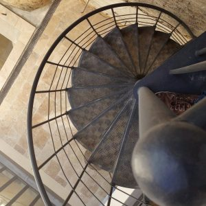 Spiral staircase Dijon seen from top