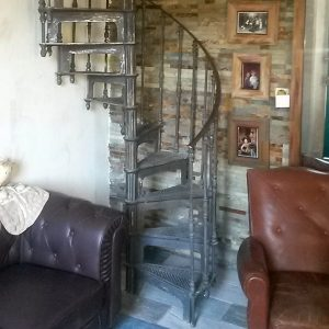 Antique model spiral staircase