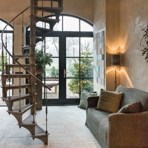 Spiral staircase in dutch home